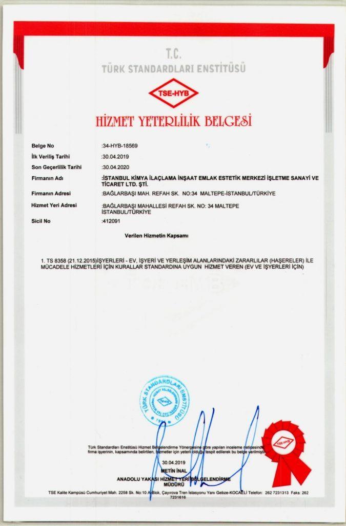 ilaçlama sertifikası 1