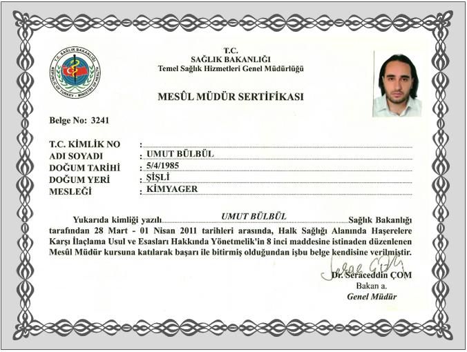 ilaçlama sertifikası 3